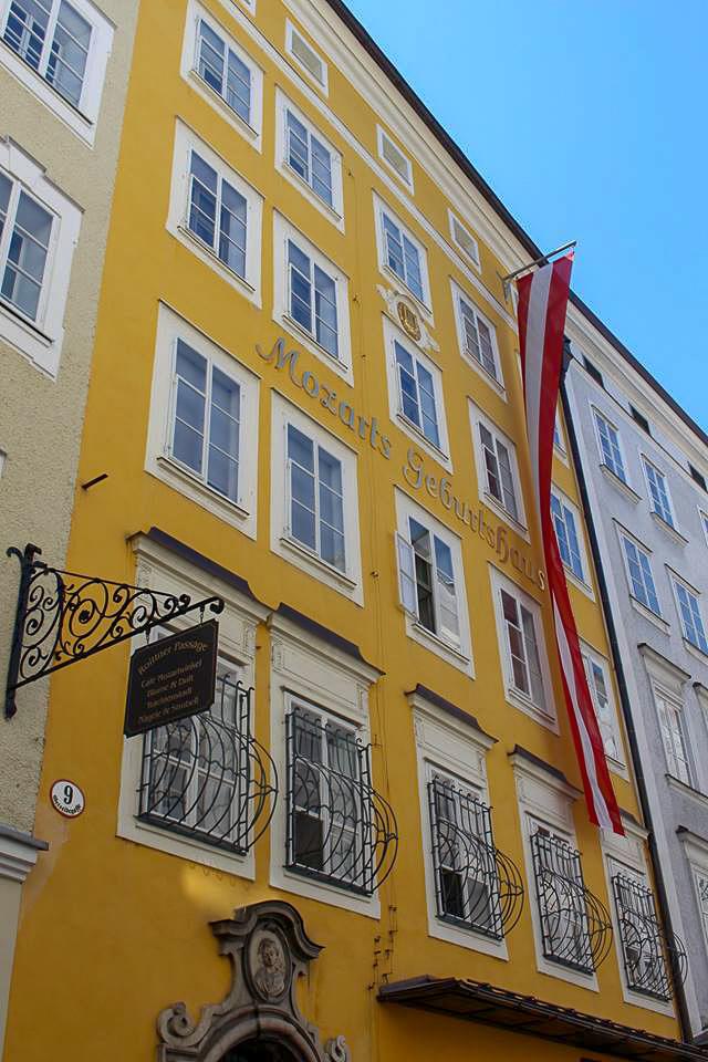 Salzburg itinerary - Mozart Geburtshaus