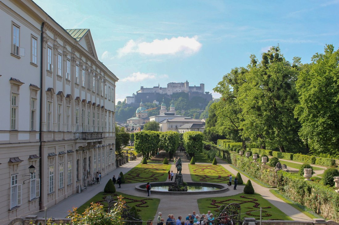 Salzburg itinerary - view from Schloss Mirabell