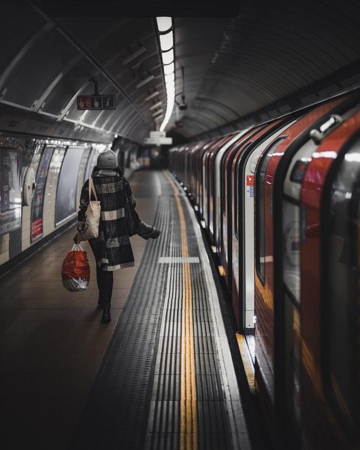 Girl on London Underground platform