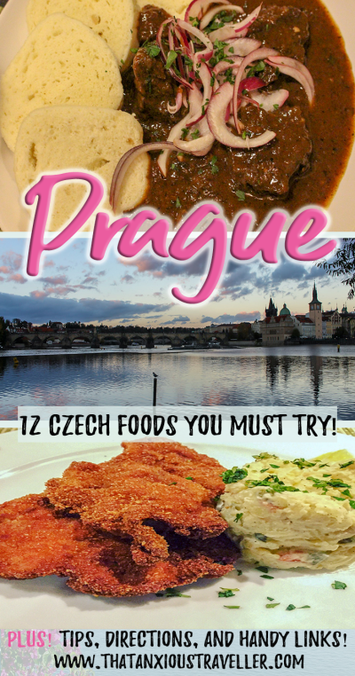 Prague Food Guide - The Traditional Czech Foods You Must Try. Read up and learn what to expect when you're in the finest #restaurants in Prague! With tips, meal recommendations, and a guide on where to find the best food in the Czech Republic! #prague #food #czech #traditional #travel #thatanxioustraveller #market #cheap #foodies