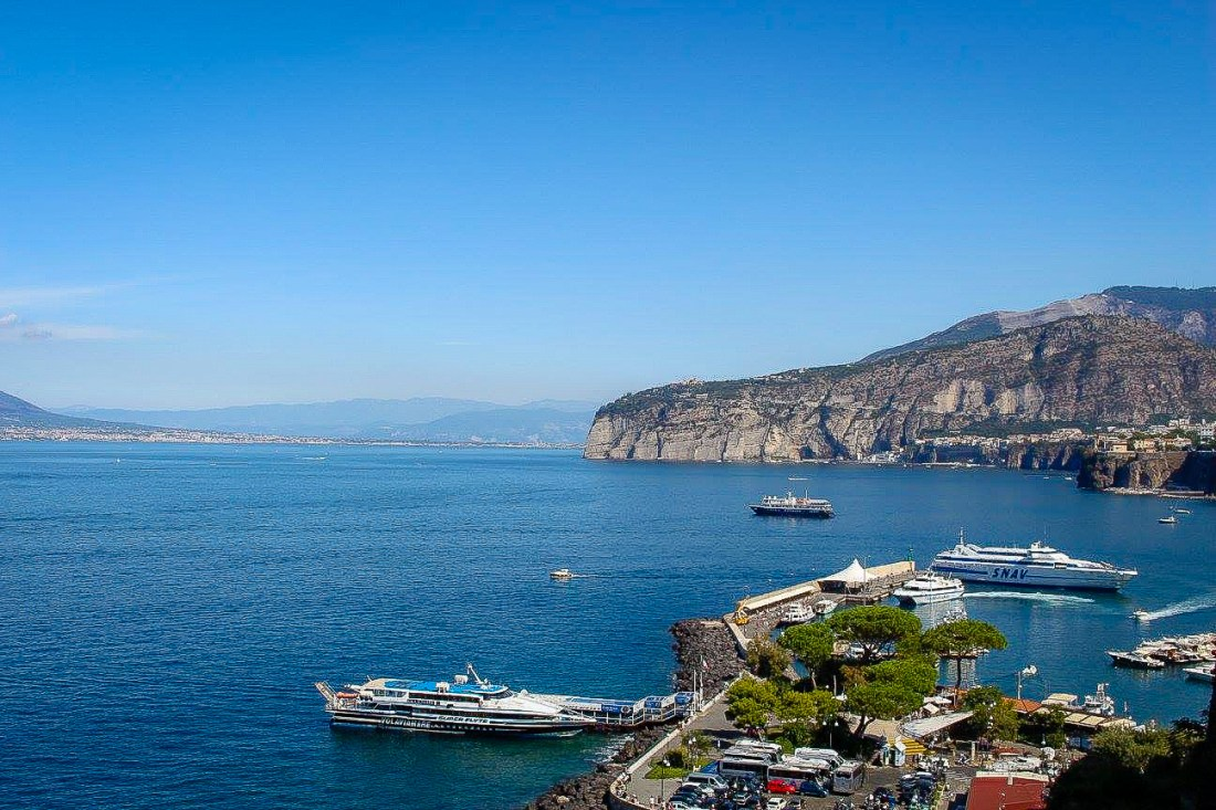 A view of Sorrento's harbour