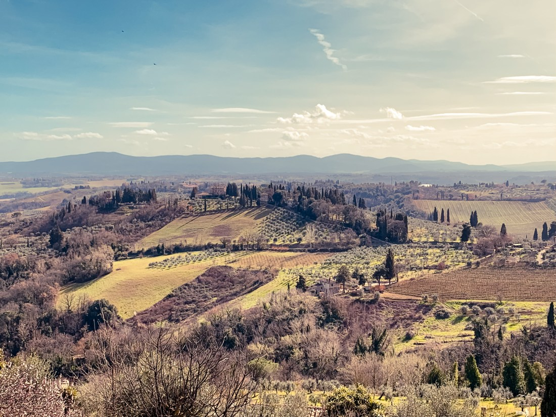 Rolling countryside in Tuscany, Italy