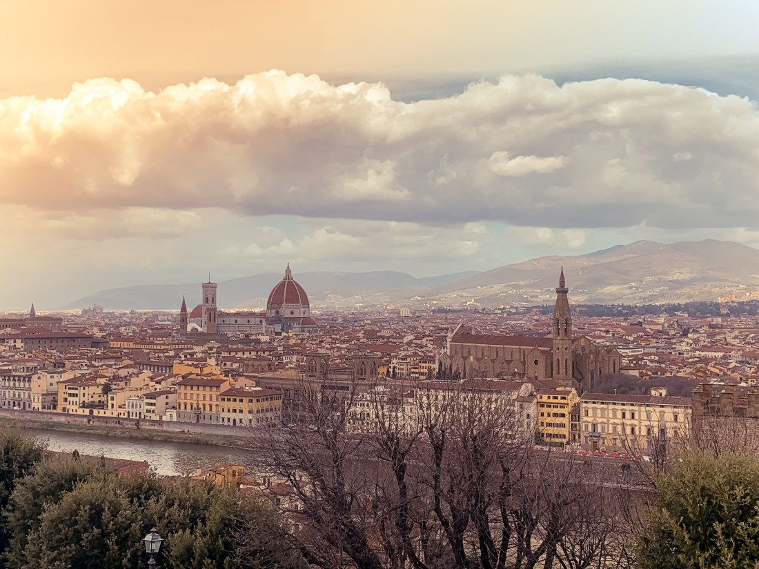 The skyline of Florence during golden hour