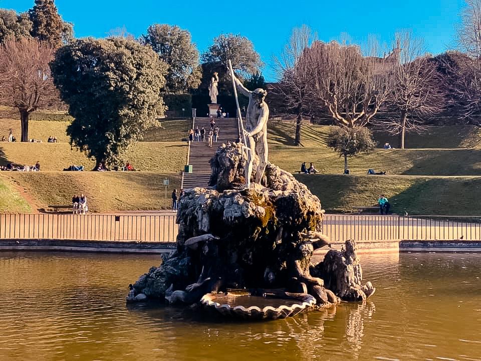Statue of Neptune in the Boboli Gardens, Florence