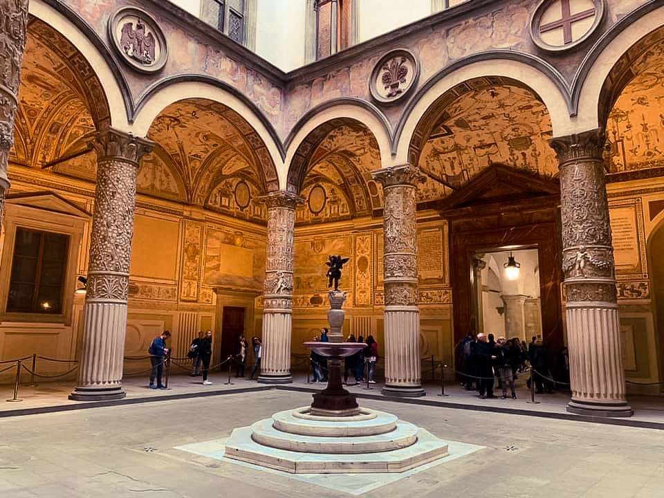 The courtyard at the Palazzo Vecchio, Florence - 2 days in Florence itinerary