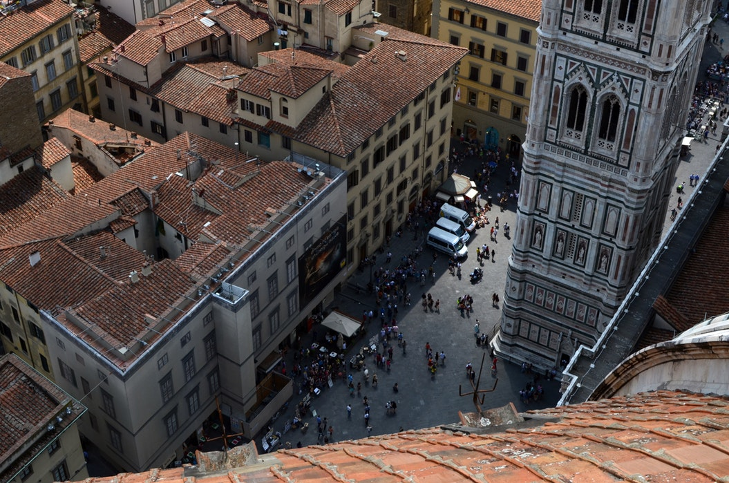 Streets of Florence, taken from the top of the Duomo - 2 days in Florence itinerary