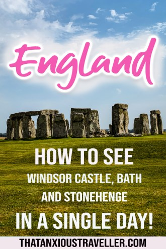 Looking for the best day trips from London? How about once that'll let you see Windsor Castle, Bath, and Stonehenge in one day? This Tourist England review gives you all the info on tours from London for couples, or simply how to travel from London to Bath and Stonehenge! #london #england #thatanxioustraveller