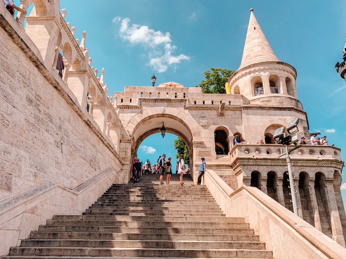 The tourist hotspot of Fisherman's Bastion. A Budapest sightseeing staple, and one of the best things to do in Budapest.