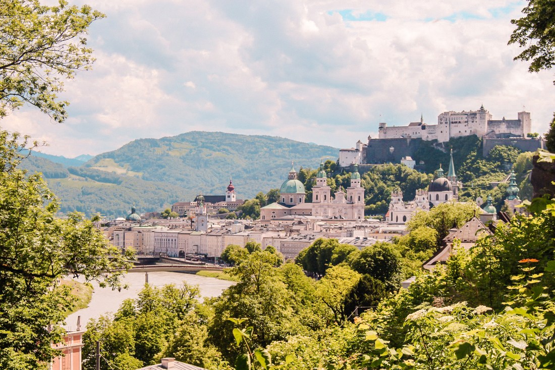 A view of the city of Salzburg. A day trip from Vienna to Salzburg is a must-do when visiting Austria.