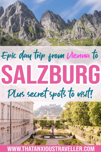 A Vienna to Salzburg day trip is a must if you're planning to visit Austria! Get all the info, tips and tricks on getting to Salzburg from Vienna by train, road, or even getting a The Sound Of Music tour. Also includes an epic itinerary for seeing the best things to do in Salzburg! #salzburg #austria #vienna #europe