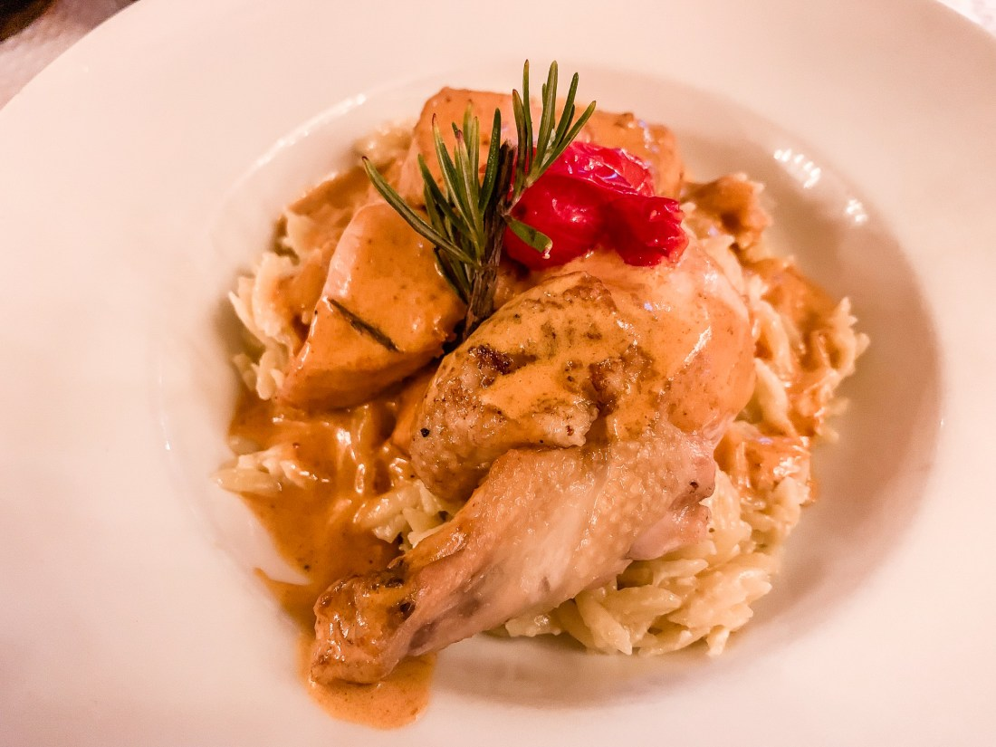 A plate of chicken supreme. French food can be a worry for people visiting Paris for the first time.