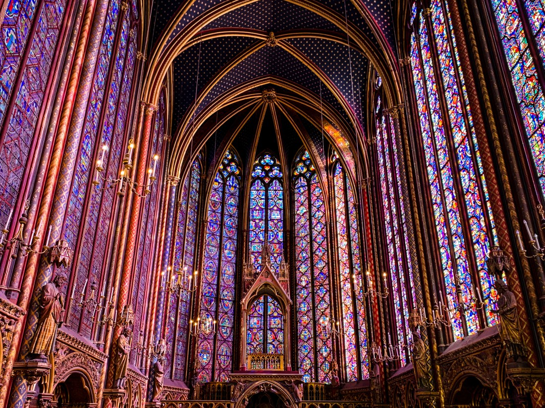 Sainte-Chappelle church in Paris, which has a building made entirely of stained glass. This is a lesser-know sight for people visiting Paris for the first time.