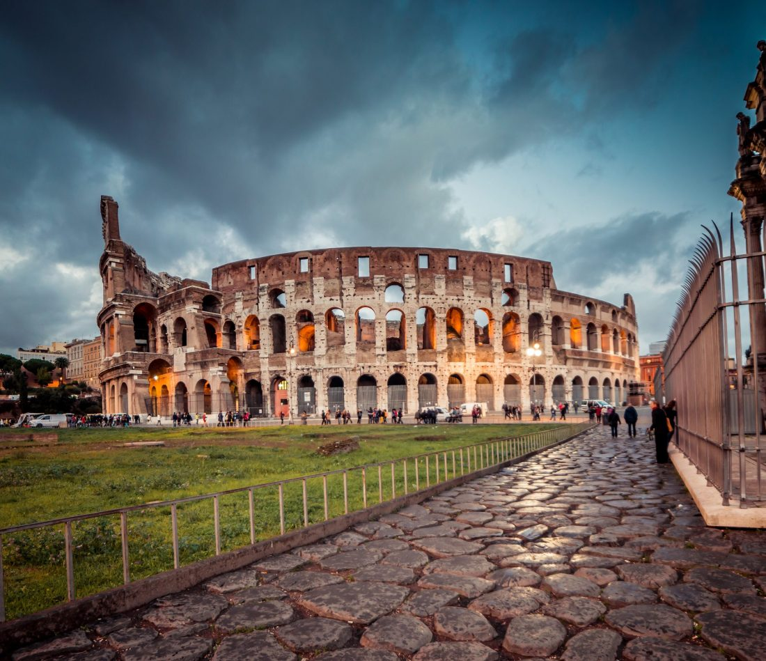 The Colosseum in Rome. Good Italy travel tips will give information on how to visit here without the crowds!