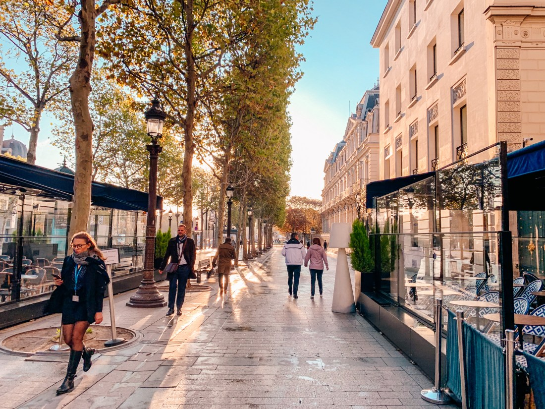 The Champs-Elysees is one of the most famous streets in the worlds, and a Paris landmarks.
