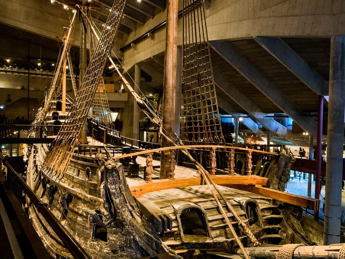 The Vasa, a warship which sank on launch, held in the Vasa Museum