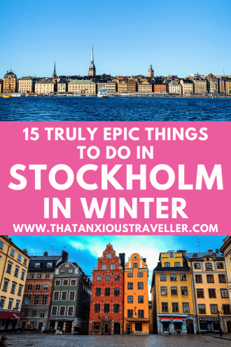 Visiting Sweden in winter, and want to know the best things to do in Stockholm in winter? Get all the info you need with this guide! From fun things to do in Stockholm to the perfect street style, aesthetic and fashion for your packing list, from photography spots to the food you must try (Swedish meatballs!), you'll have everything you need to make the most of your Sweden travel! Enjoy the architecture of the Old Town, and the archipelago! #Stockholm #Winter #SwedenTravel #wanderlust
