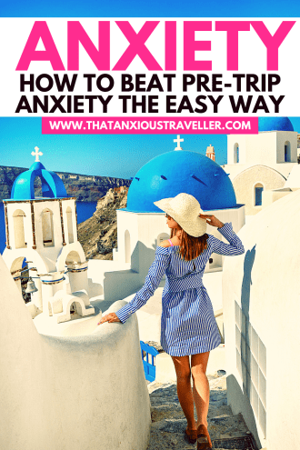 You don't need to suffer with pre-trip anxiety, and miss out on seeing the world. Learn how to overcome travel anxiety with 13 simple, actionable tips! Covering everything from fear of flying, to airport anxiety, to gaining professional help, you'll discover life-changing techniques to deal with your fears. Identify what makes you nervous, defeat it, and enjoy everything that travel has to offer. Get tips from someone who's done it! #travel #anxiety #fearofflying #pretripanxiety