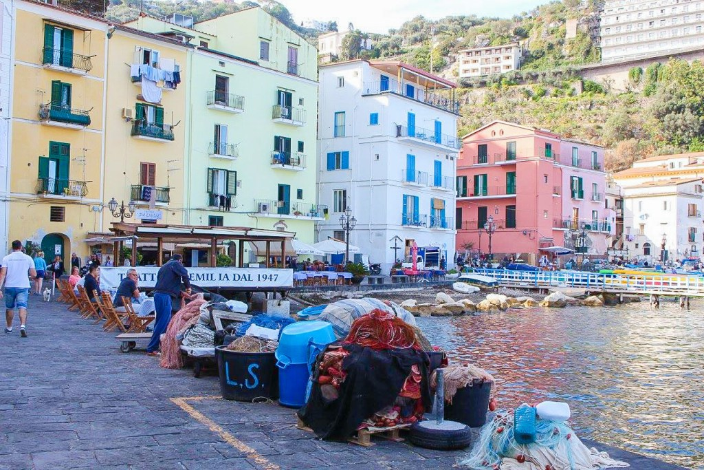 The fishing harbour in Sorrento, Italy. Sorrento Airbnbs are often found near here.