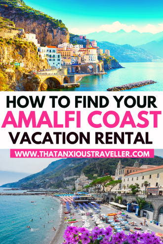 Looking for the perfect Amalfi Coast Airbnb? Find the vacation rental of your dreams with this guide! Giving you details of the very best Airbnbs in Positano, Amalfi, Ravello, Sorrento and Capri, as well as coveted Amalfi Coast Airbnb with pool, you'll be able to pick your ideal Italy home. With a guide explaining where to stay on the Amalfi Coast, and a link to the best hotels, you'll learn which town is perfect for your needs! #AmalfiCoast #AmalfiCoastAirbnb #ItalyRentals #ItalyTravel