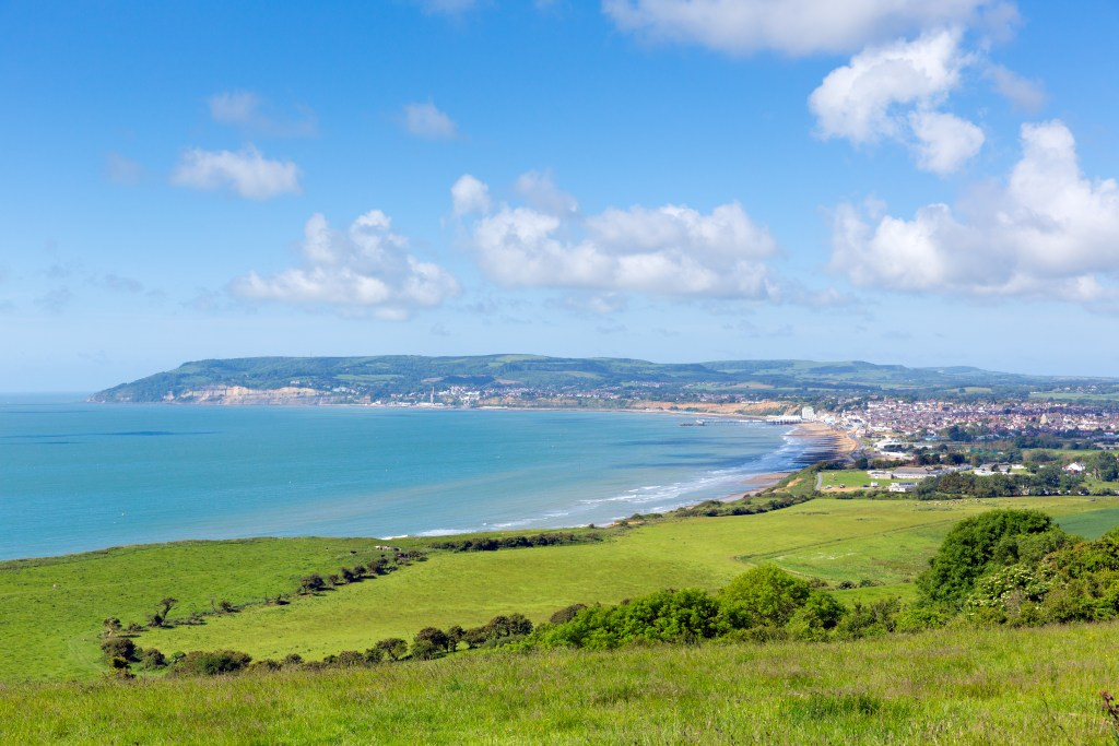 A view of Sandown and Shanklin on the Isle of Wight
