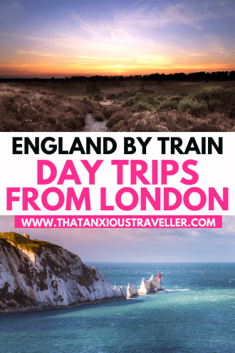 Looking for epic, yet simple, day trips from London by train? Look no further: here's 27 amazing day trips from London you'll love - and they couldn't be easier! See the best of England and beyond, including Brighton, Stonehenge, Oxford, Windsor Castle, Bath, Bristol, and the Cotswolds - plus trips to Wales, Paris, Brussels and Lille! It's everything you need for stress-free London day trips and UK staycations! #London #England #LondonTravel #EnglandTravel