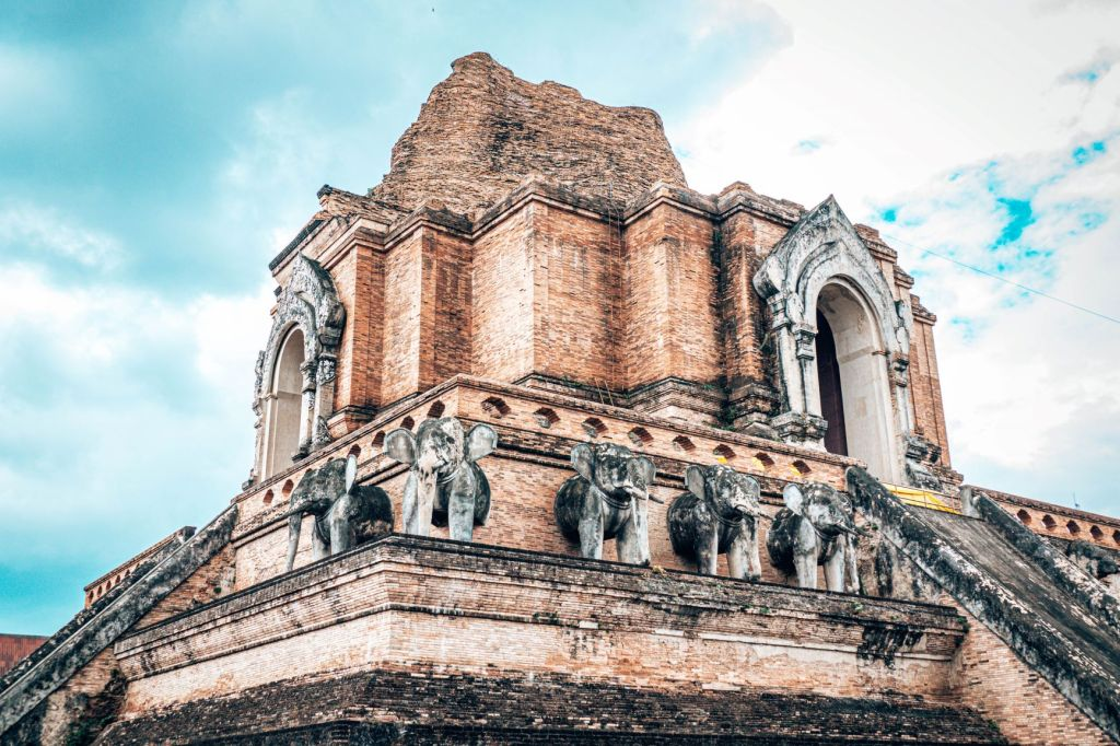 A temple in Chiang Mai, one of the best cheap places to travel in Asia
