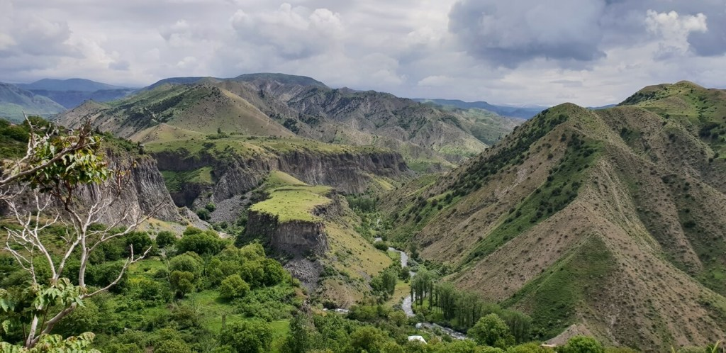 A view of hills in Armenia, one of the cheap countries to visit in Asia