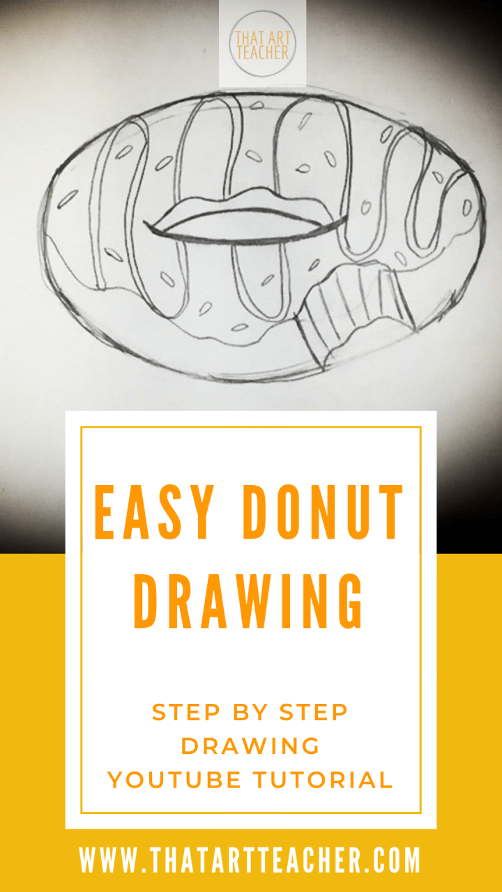 Learn how to draw a donut in less than five minutes!  This tutorial is fun, super easy and will have you craving donuts as you improve your drawing skills.