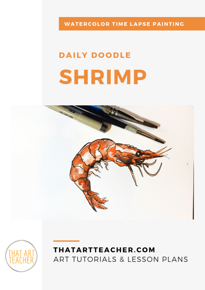 Learn how paint to a vibrant shrimp using simple layers of colors with this watercolor time lapse tutorial!