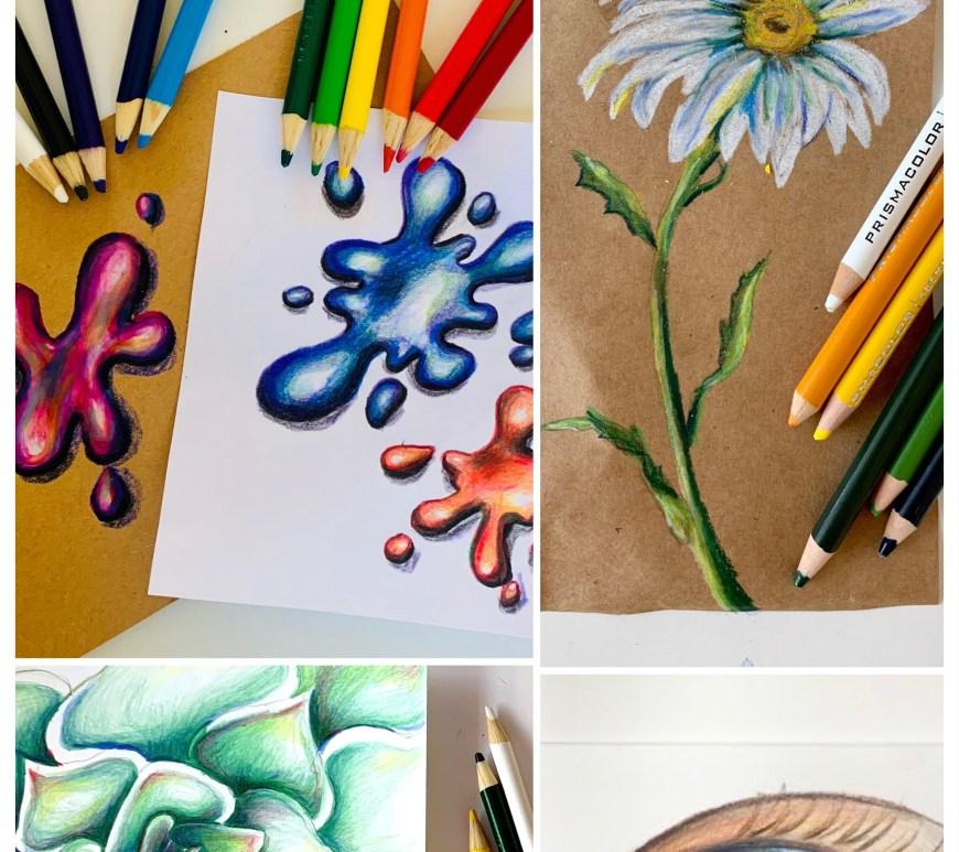 4 Colored Pencil Art Tutorials
