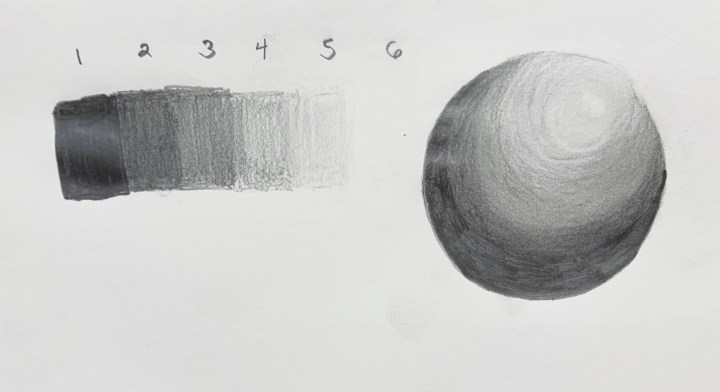 value scale and sphere shading
