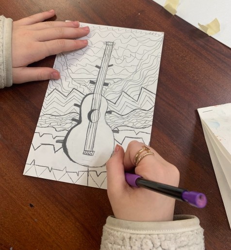 jazz printmaking art lesson
