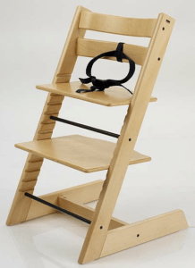 stokke chair harness wicker hanging egg history of the tripp trapp that baby life kinderzeat with three point