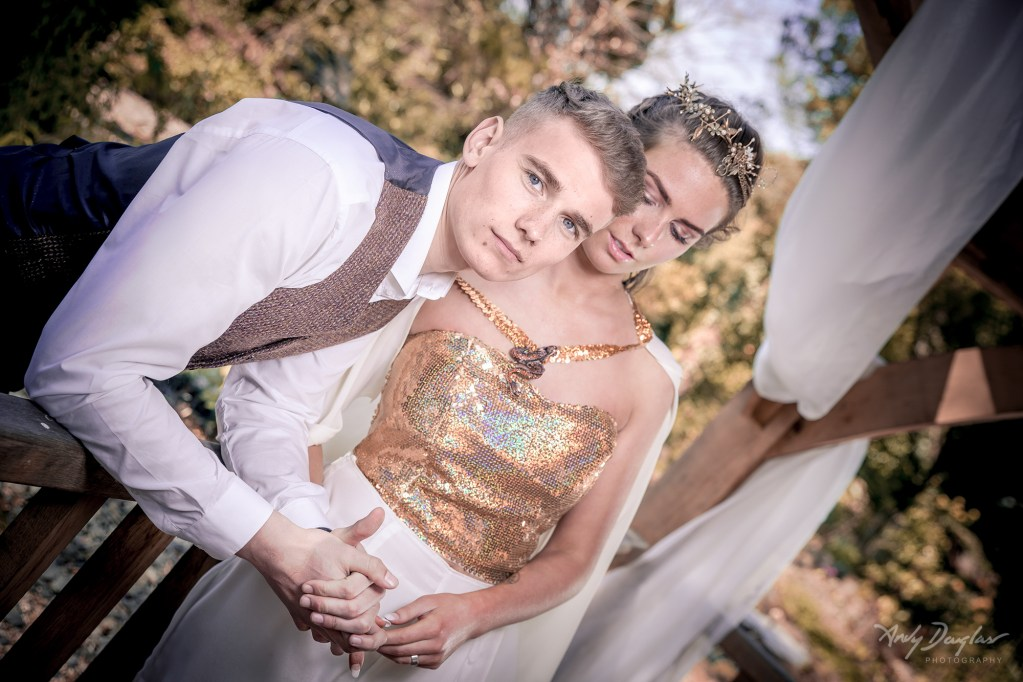 Game of thrones wedding- close up of couple