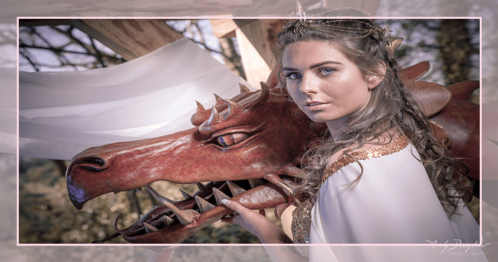 Game of thrones wedding - bride with dragon
