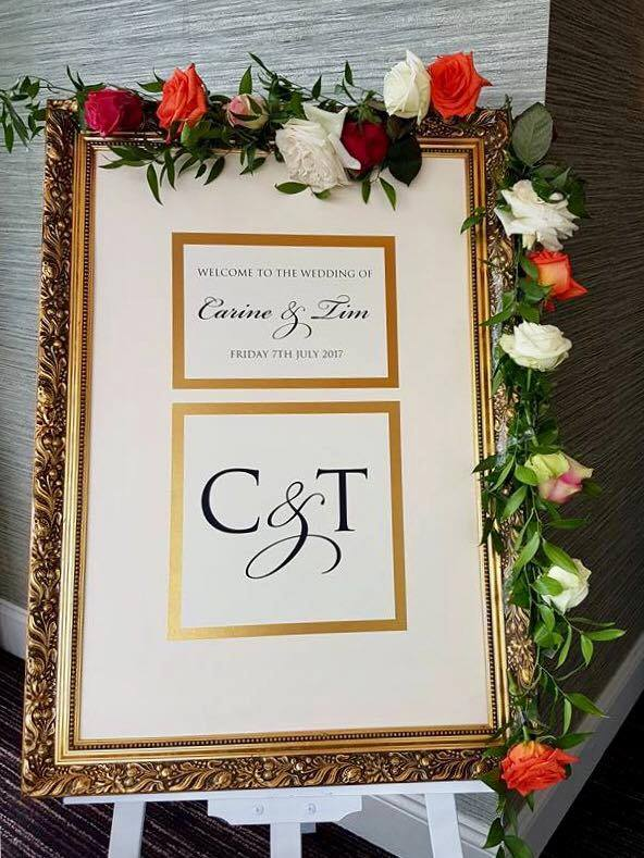 Tim and Carine's real wedding inspiration