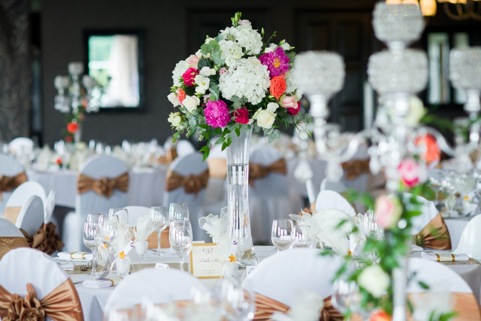 Real wedding table scape