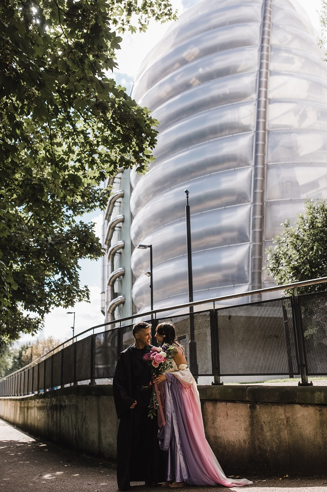 Outside the National space centre - unique, unusual alternative wedding venue