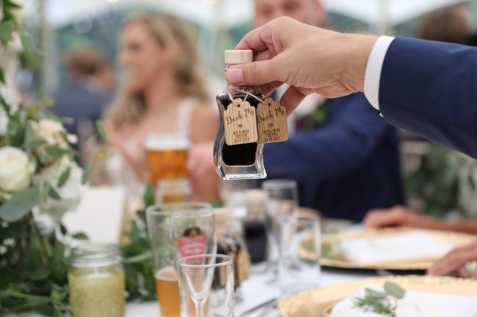 real wedding inspiration - creative favours and bespoke wooden drink tokens