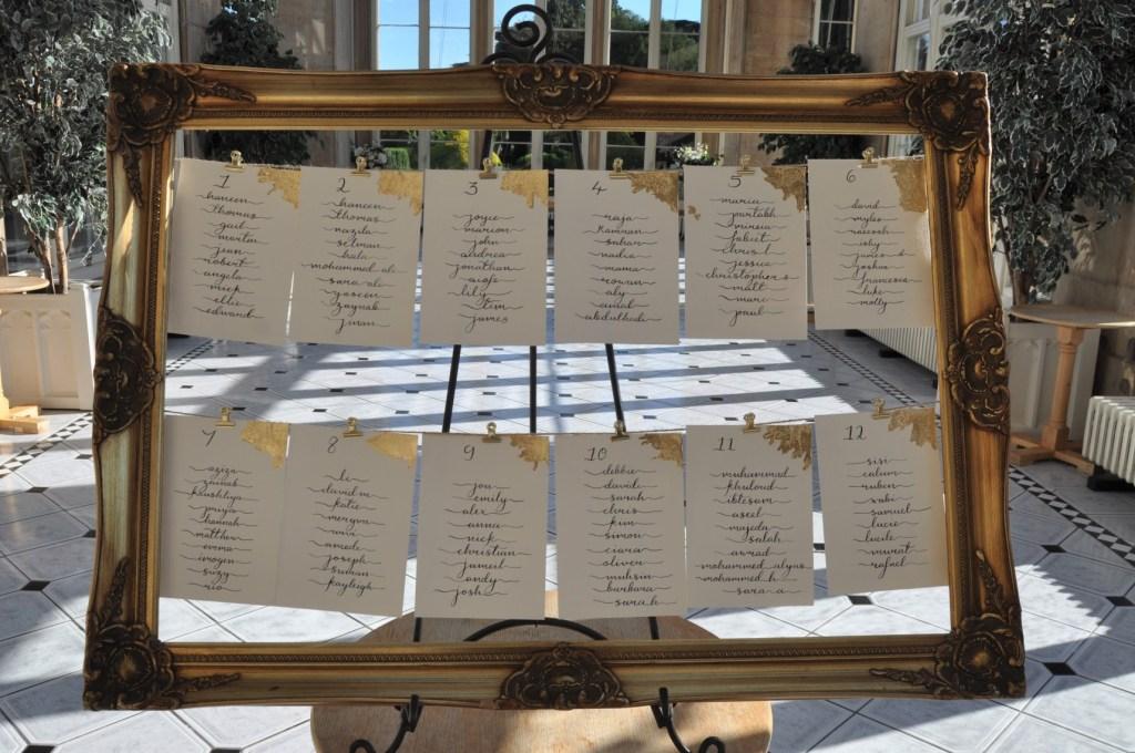 Haneen and Toms wedding - alternative wedding planner - nottingham wedding planner - leicester weddings - wedding table plan 2