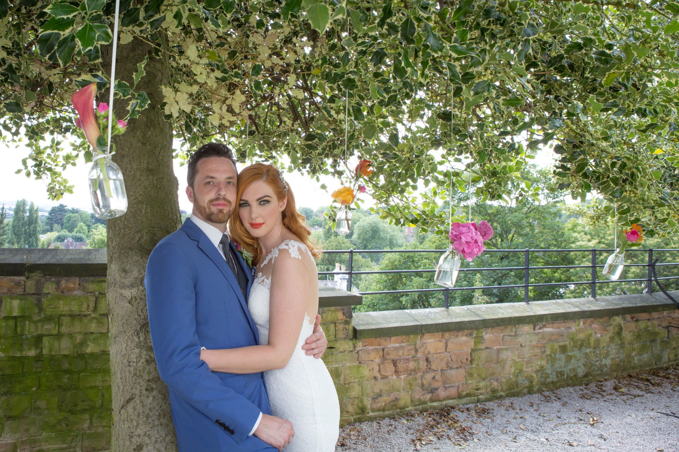 a colourful wedding in the gardens of harts nottingham - pink wedding - alternative wedding