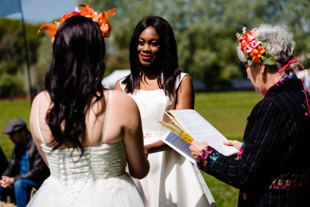 outdoor wedding handfasting ceremony - how to plan an outdoor wedding - celebrant wedding