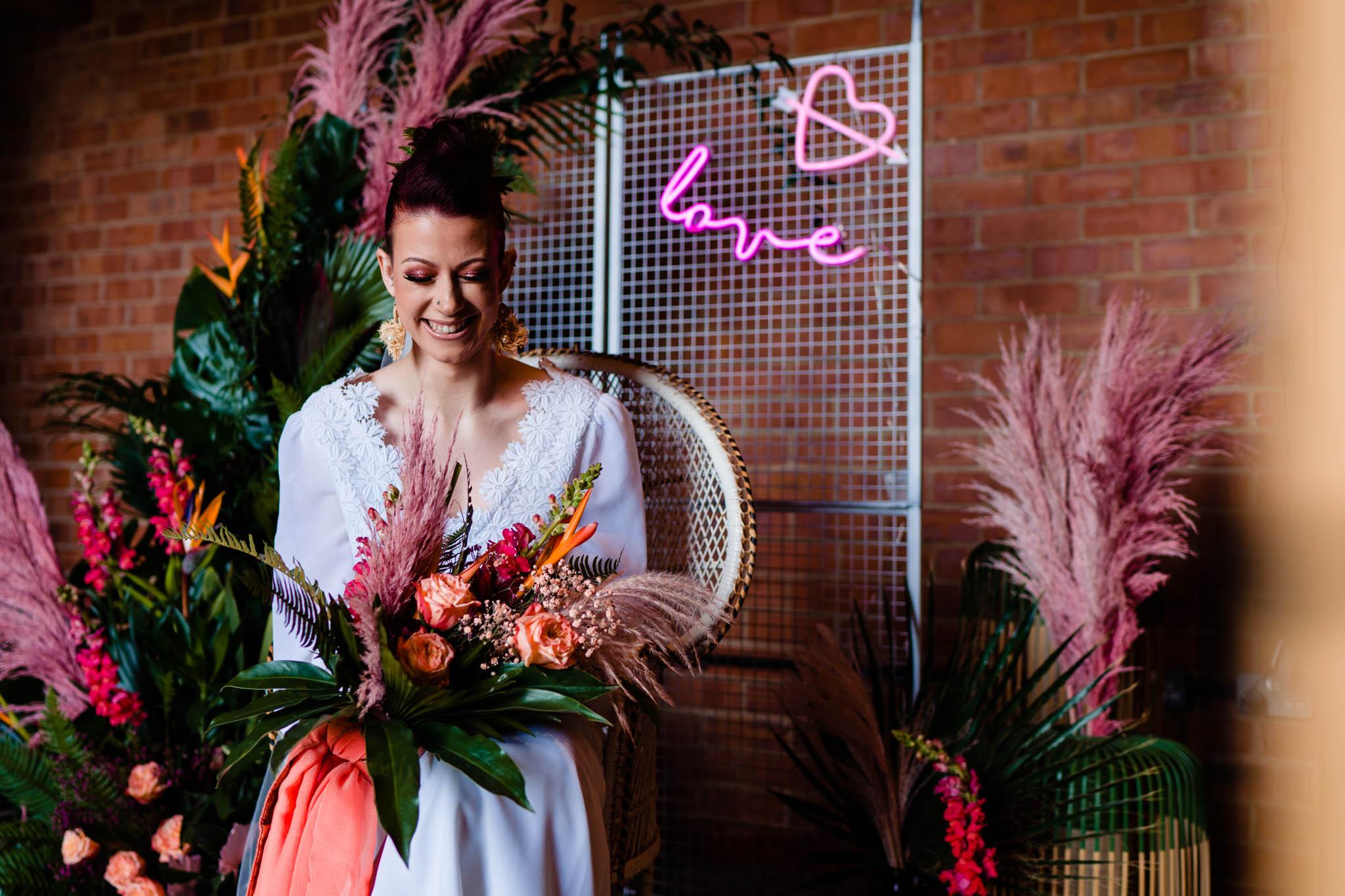 modern wedding styling - modern tropical wedding - modern wedding - modern bride - east midlands wedding planner