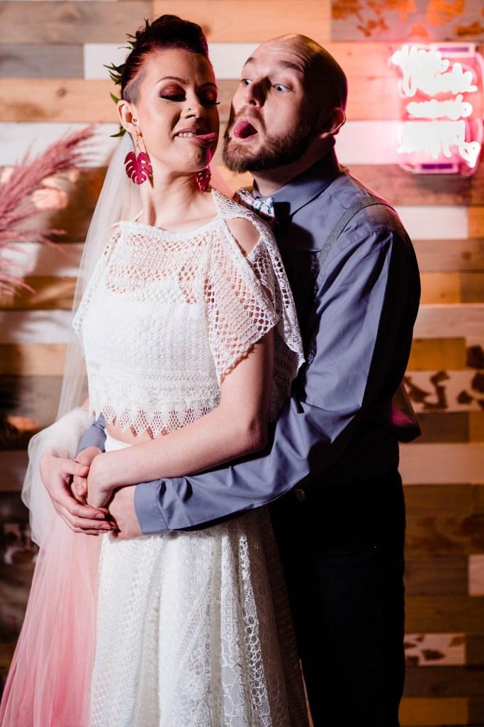fun wedding photos - silly wedding photo - modern wedding - modern tropical wedding - modern wedding - modern bride - east midlands wedding planner