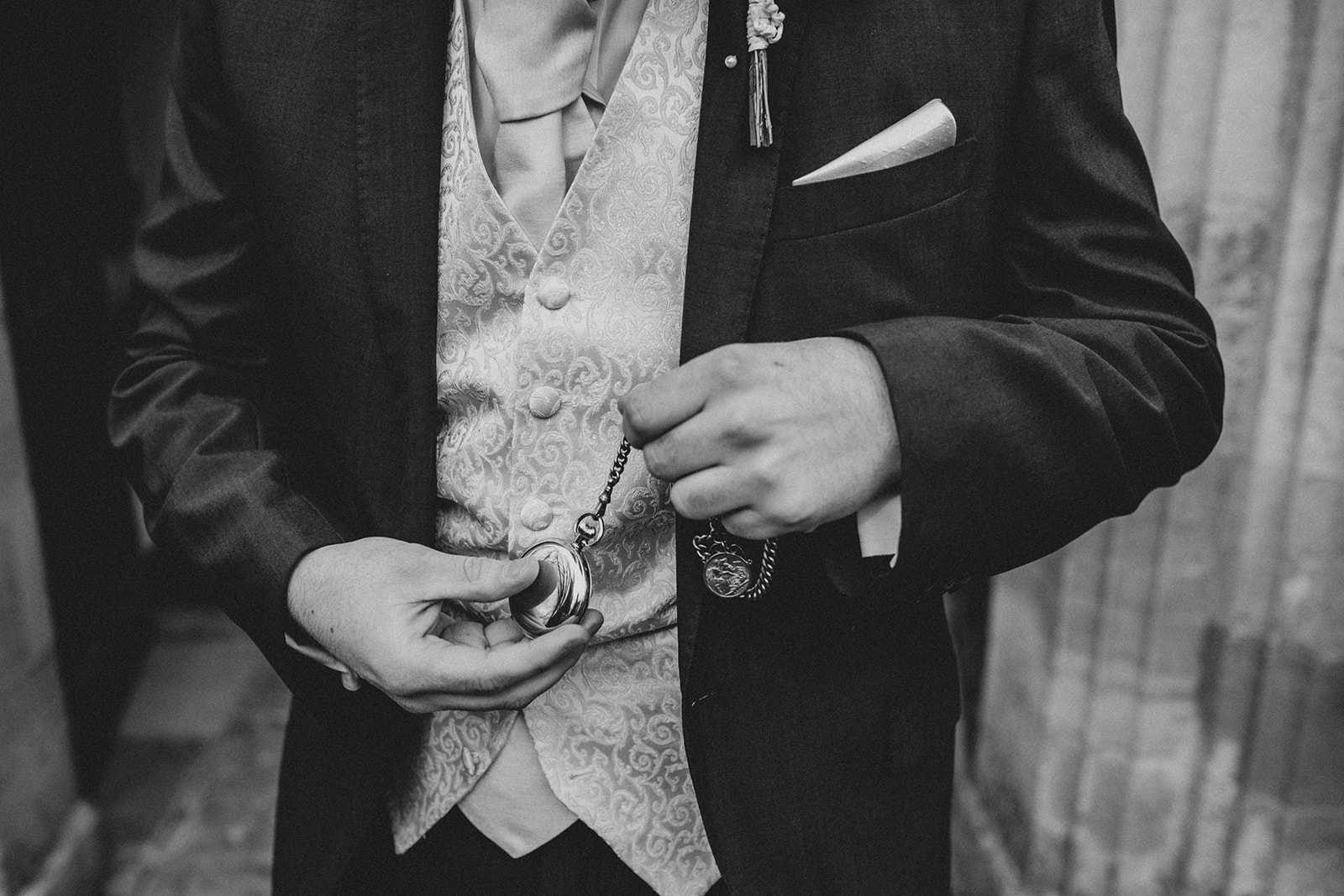 groom with pocket watch - that black and white cat - east midlands wedding planner - leicestershire wedding planner - nottingham wedding planner