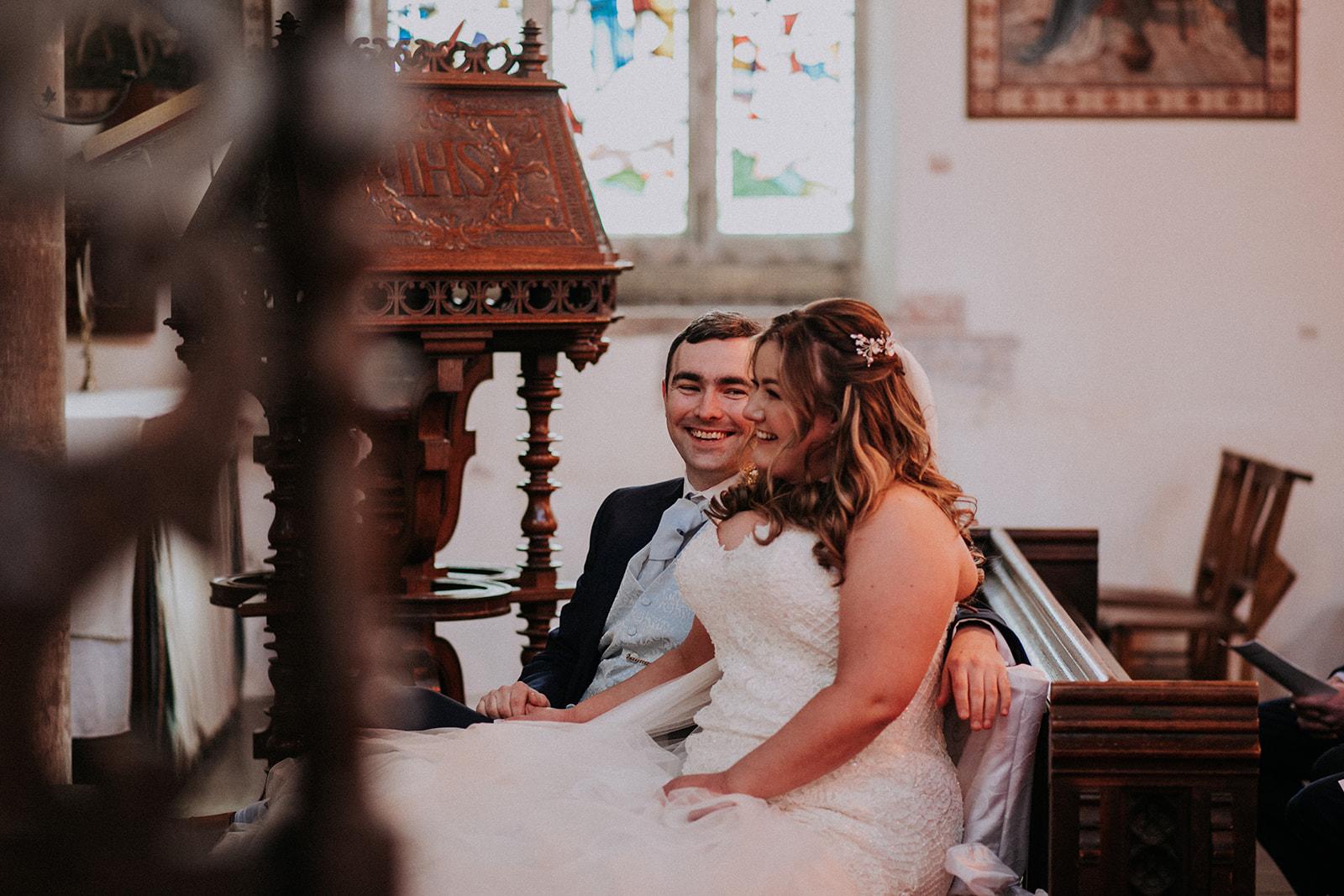bride and groom smiling - rutland wedding - fun wedding - east midlands wedding planner - Leicestershire wedding planning - nottingham wedding planner