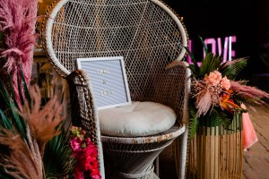 unique wedding signage - unique wedding prop hire - modern tropical wedding - modern wedding - modern bride - east midlands wedding planner