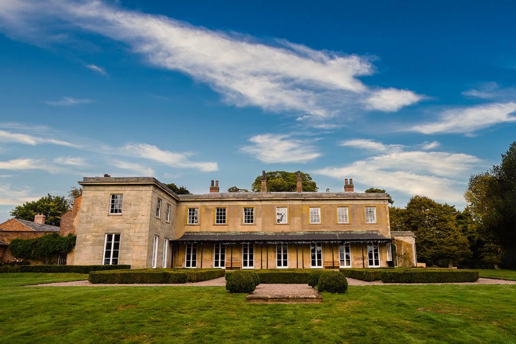 The rear of Fillongley Hall, Warwickshire marquee venue- Exclusive wedding venue