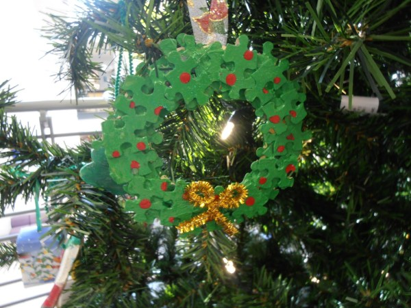 Jigsaw Puzzle Christmas Ornaments