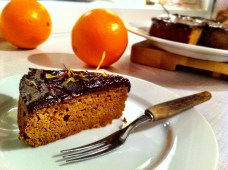 Healthy orange and almond cake